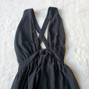 FOREVER 21 criss cross black dress